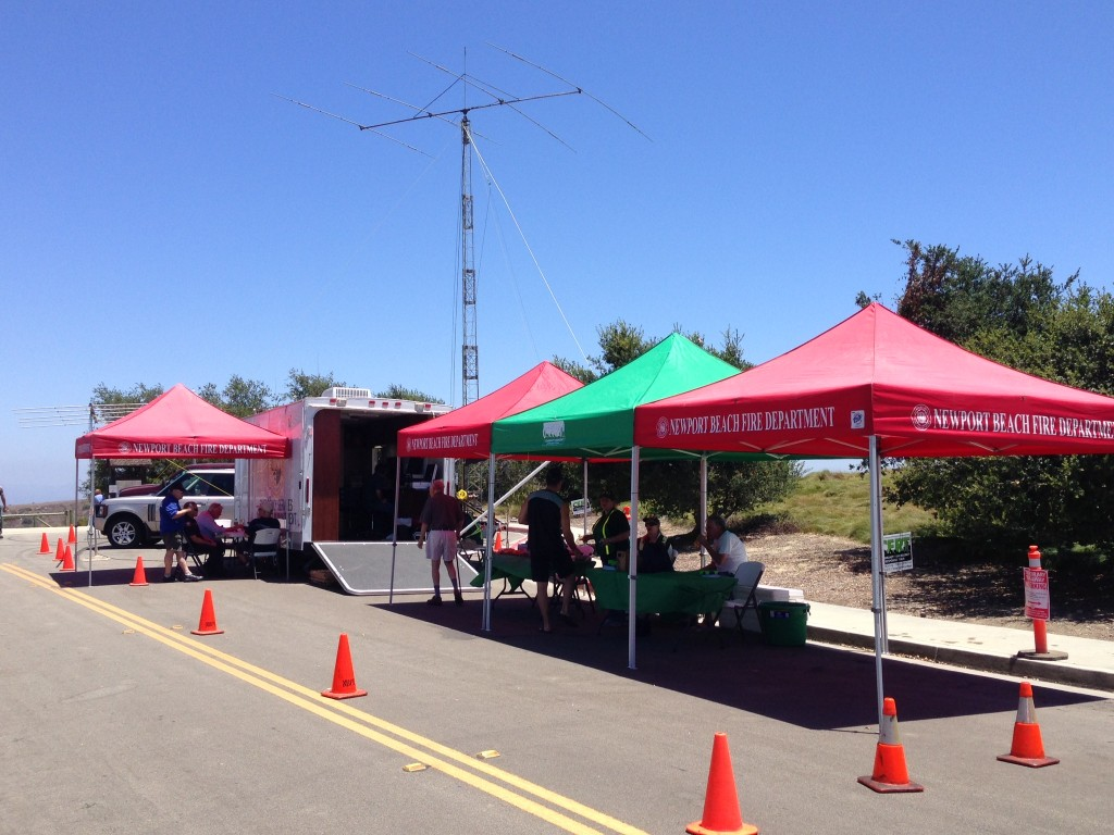 Newport Beach volunteers work the command post for the American Radio Relay League Field Day last weekend. — Photo by Peter Putnam ©