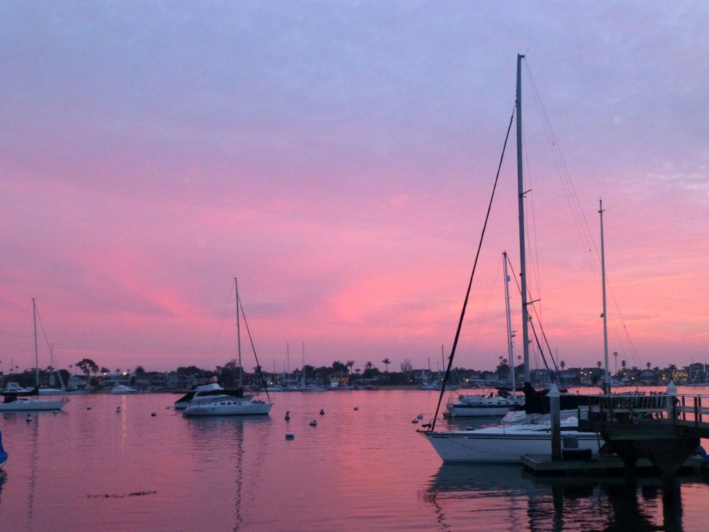 Sunset from Balboa Island — Photo by Andrea Culver ©