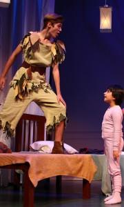 Christopher Huntley as Peter Pan and Nika Aydin as Michael Darling