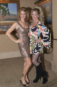 Gala chair Michelle Bendetti and committee member Heidi Miller at last year's Motown-themed gala.