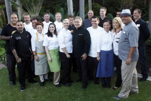 The chefs at the Wine & Food Festival media preview pose for a group photo