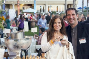 Natalie Sarle and Kevin Cahalan of The Sliding Door Café in Balboa Village at the Dine Newport Beach launch party.