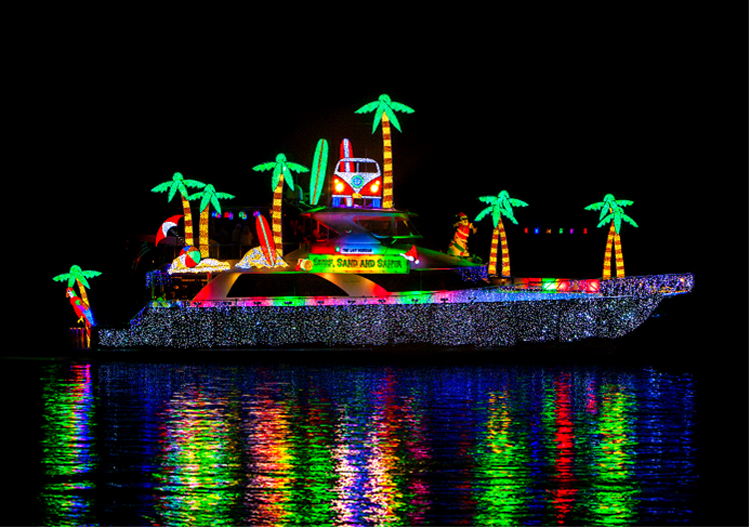 Christmas Boat Parade — Newport Indy file photo ©