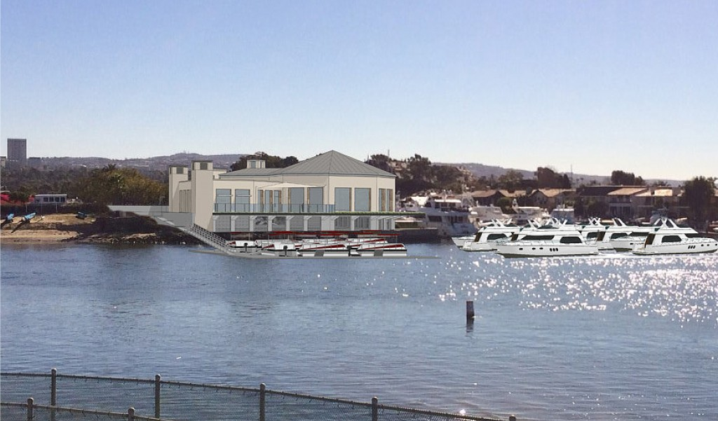A conceptual building design of the marina commercial building proposed for the Balboa Marina West project. Photo Credit: Courtesy city of Newport Beach