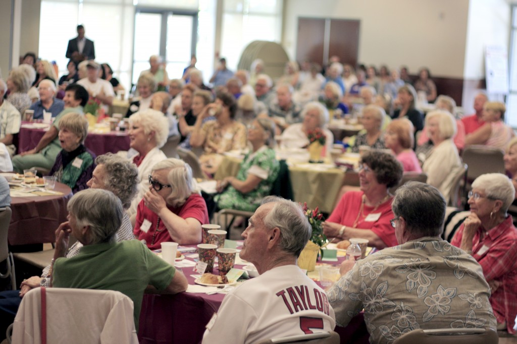 More than 120 people listen to council candidates answer questions during a forum at Oasis Senior Center hosted by the Friends of Oasis on Sept. 5.