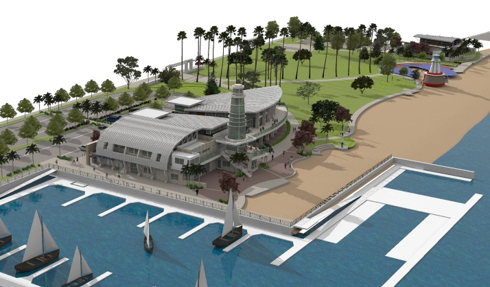 An artist's rendering of Marina Park. — Photo courtesy city of Newport Beach ©