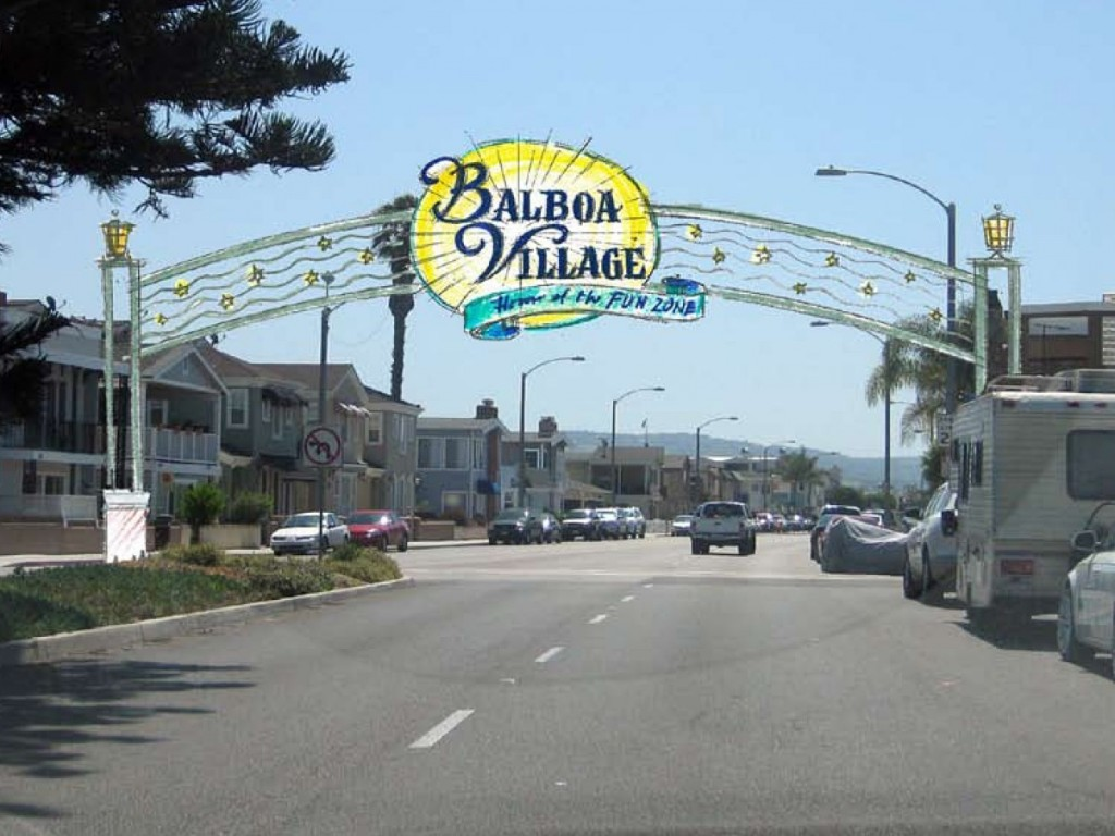 An artist's rendering of the welcome sign. — Photo courtesy city of Newport Beach ©