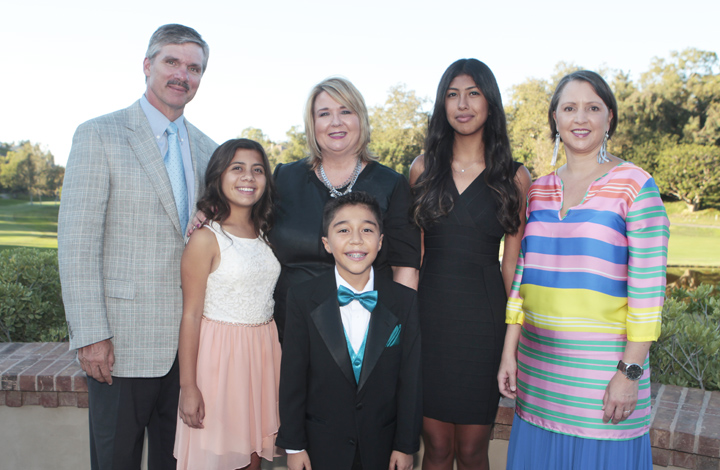 Exceptional Wooden Floor Board Chairman Jim Driscoll Of Corona Del Mar, Student Olivia  Aviles, Executive Director And Co CEO Dawn S. Reese, Students Matteo Zarate  And ...