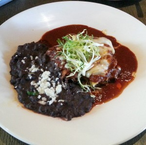 Short rib enchilada at Red O