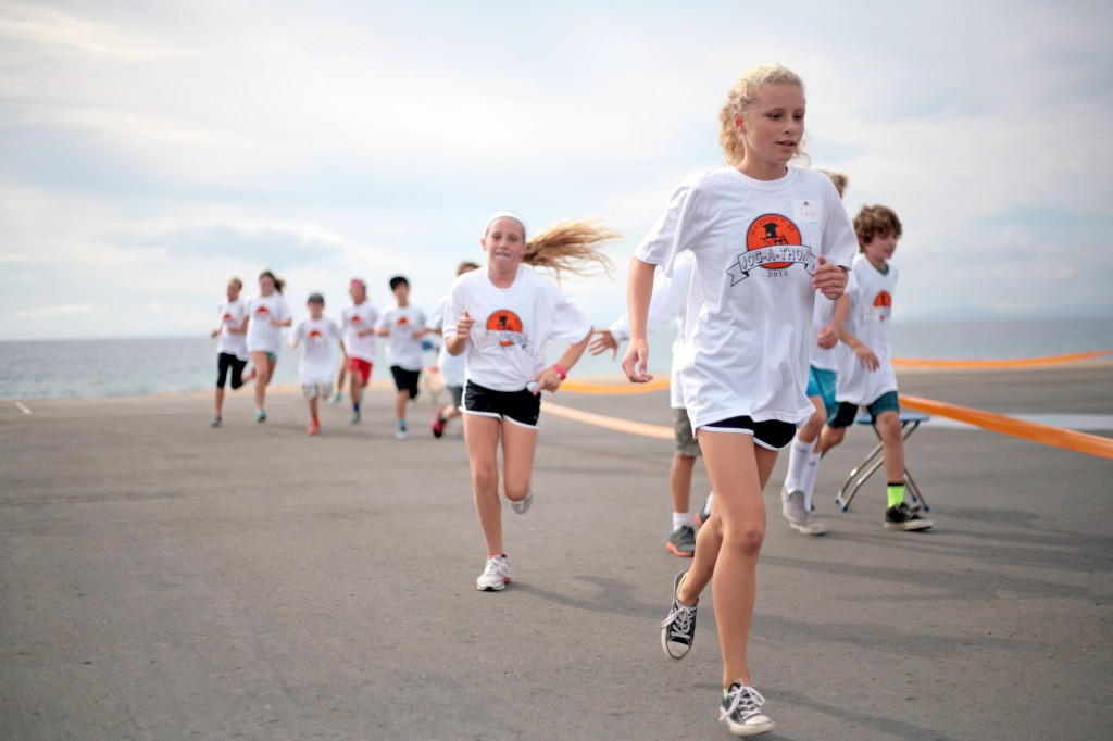 Students run in the annual Newport Elementary Jog-A-Thon on Nov. 14. — Photo by Sara Hall