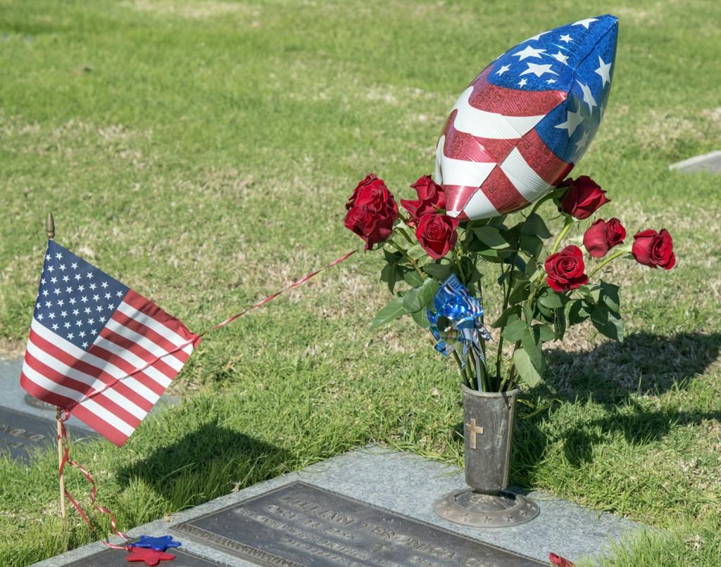 The headstone of a fallen veteran