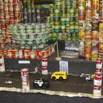 Charity Spotlight: Andersen Elementary Students Create NY Skyline with Food Cans for Charity