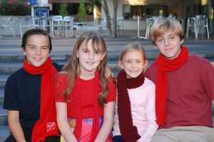 Local kids Maximos Harris, Zoe Hebbard, Aoife McEvoy, and Mitchell Huntley have roles in 'A Christmas Carol'