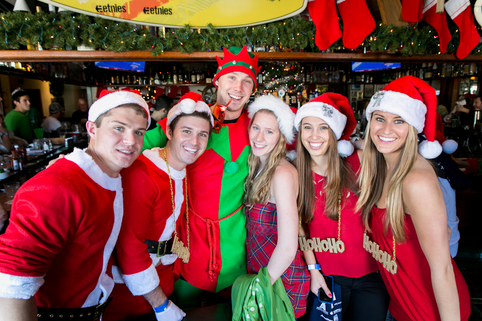 Participants from the 2nd Annual Newport Beach Santa Crawl last year.   — Photo courtesy Expo-4-Life