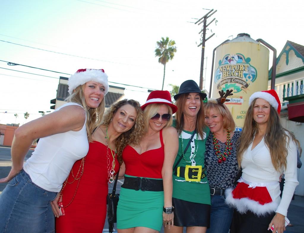 Participants at a past Santa Crawl outside of Malarky's. — Photo courtesy Expo-4-Life