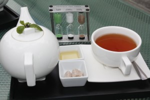 Tea service at W Cafe