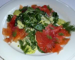 Salmon Salad for Newport Beach Restaurant Week  at Cafe Jardin