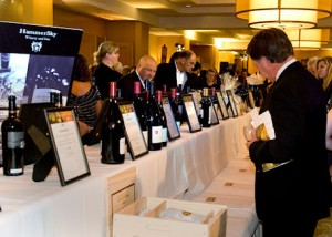Silent auction at Pacific Coast Wine Festival