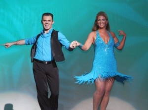 "David Schulz and Marisa Wayne (of Newport Beach) compete in the 2014 ""Dancing for Tomorrow's Stars"""