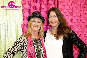 Cheryl Beck, owner of Bold Girlz Fashion Boutique and Party Place, with Kimberly Wilkins, Store Manager