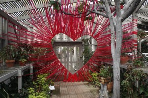 Love on display at Sherman Library & Gardens