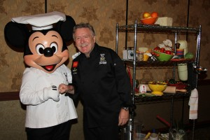 Chef Pascal Olhats of Café Jardin and Chef Mickey Mouse