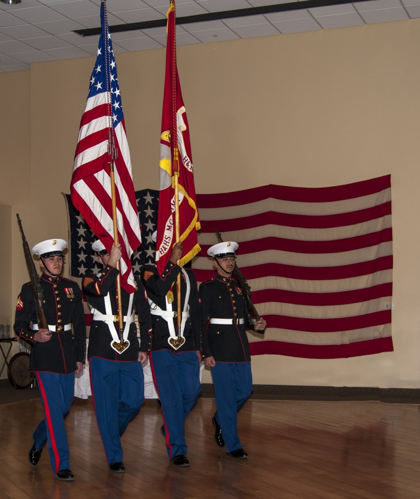 Presentation of the colors. — Photo by Lawrence Sherwin ©