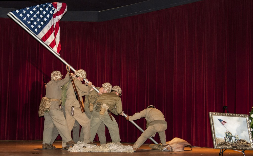 Iwo Jima living sculpture. — Photo by Lawrence Sherwin ©