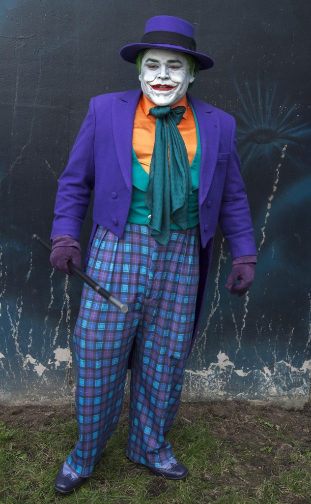 A classic Joker costume. — Photo by Lawrence Sherwin ©