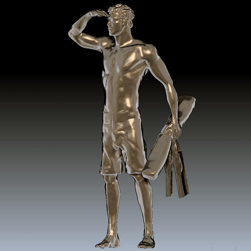 Rendering of Ben Carlson sculpture. — Image courtesy Ben Carlson Foundation