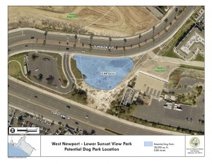 Map of planned dog park