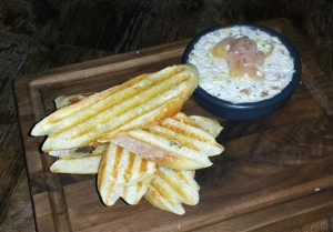 Smoked trout dip with  crostini at Five Crowns