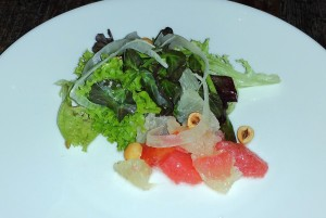 Winter citrus salad with grapefruit, fennel, tomato and watercress at Five Crowns