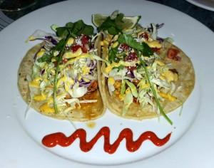 Lobster tacos at Fly 'N' Fish