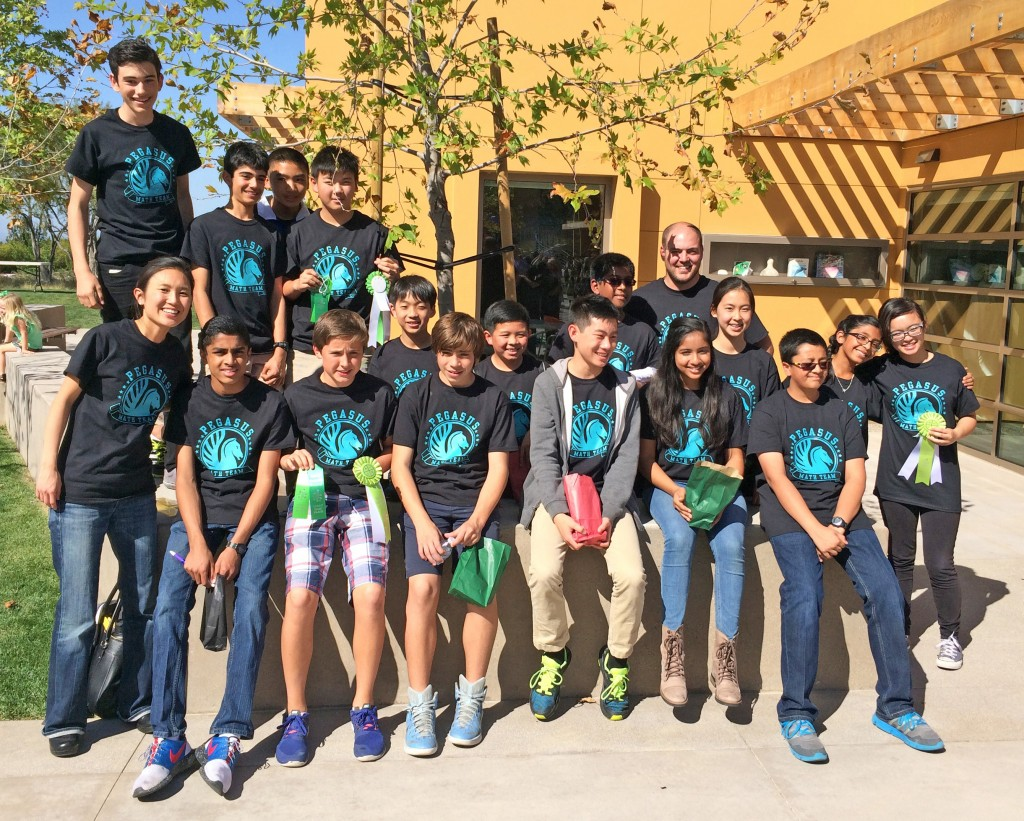 The Pegasus School teams at the Sage Hill School Mathematical Invitational. — Photo courtesy The Pegasus School ©