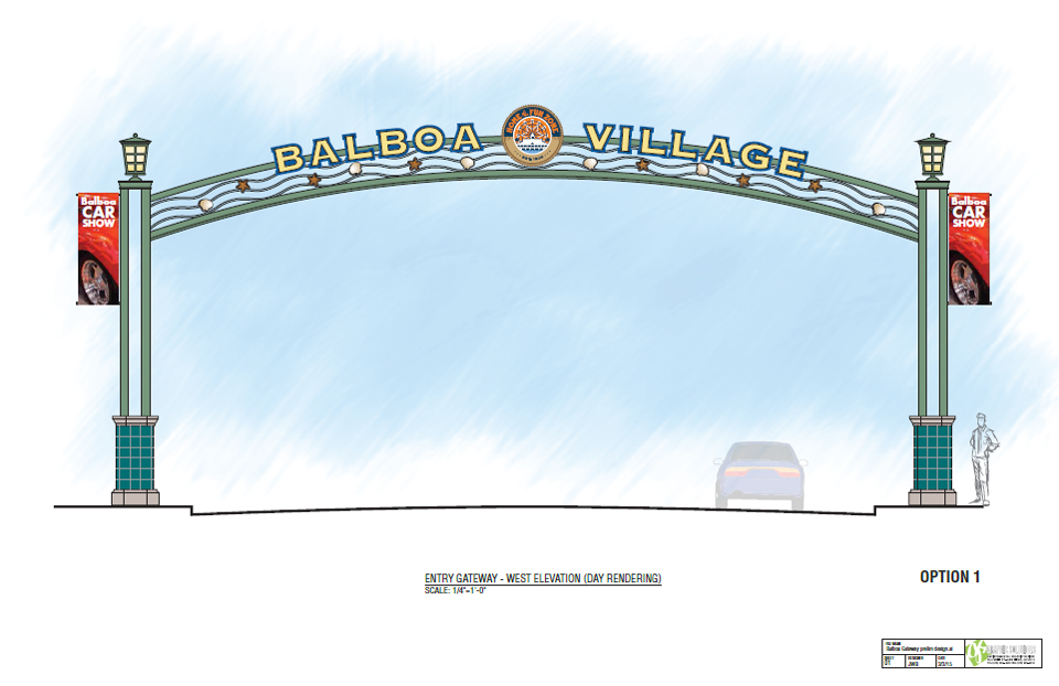 Balboa Village sign rendering. — Image courtesy city of Newport Beach ©