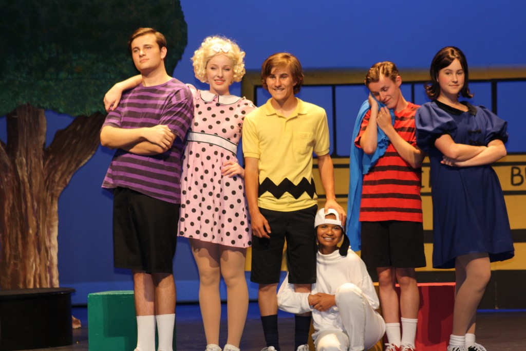"A scene from the Newport Harbor High School production of ""You're a Good Man, Charlie Brown: The Broadway Musical."" — Photo by Vita Muccia"