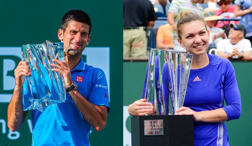 Winners Novak Djokovic and Simona Halep. — Photo by Lawrence Sherwin ©