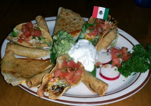 El Ranchito appetizer platter