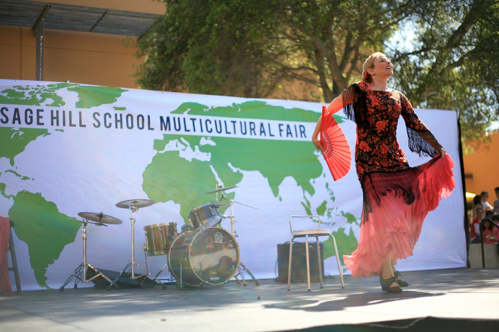 Guest dancer Susana Elena performs the flamenco Saturday at the 14th Annual Sage Hill Multicultural Fair.  — Photo by Sara Hall ©