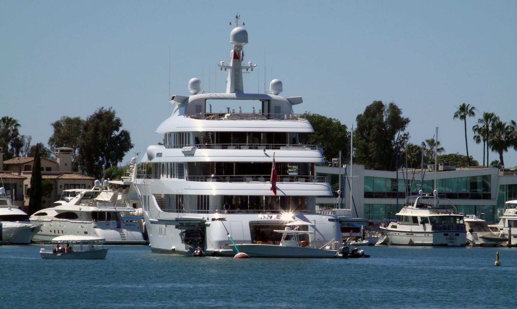 Mega Yachts In Newport Harbor