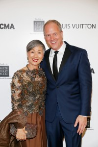 Anne Shih and OCMA Director Todd Smith (Photo by Ryan Miller/Capture Imaging)