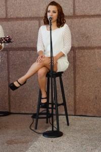 OCSA student Josie Johnston performing at Intermission