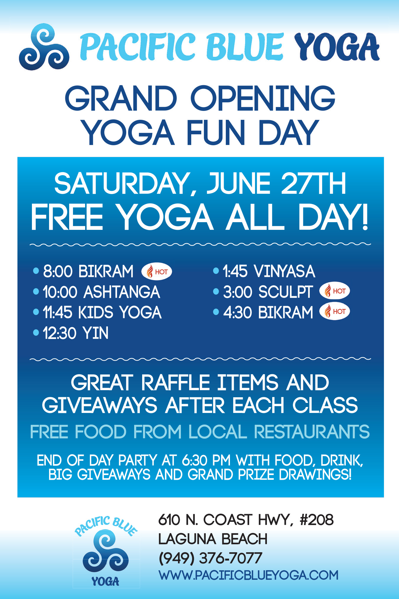 Grand Opening For Pacific Blue Yoga Newport Beach News
