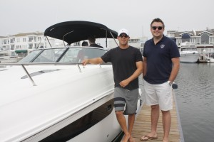 Boat owner Ariel Gabriel and Boatbound founder Aaron Hall