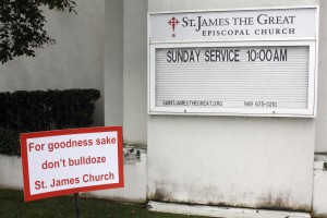 St. James Church sign — NB Indy photo ©