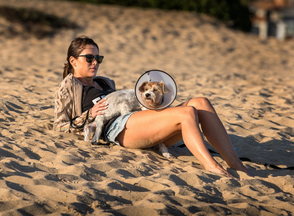 Newport Beach: Healing for the dog and owner. — Photo by Patrick O'Healy ©
