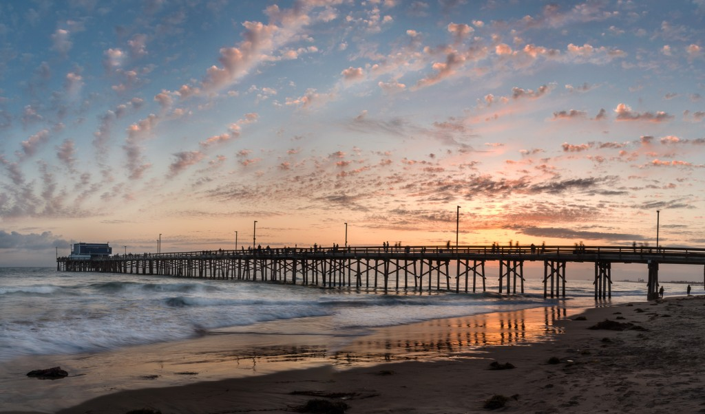 Newport Pier at sunset. — Photo by Patrick O'Healy ©