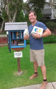 Local resident Chad Sparks donated the materials and built the Little Free Library