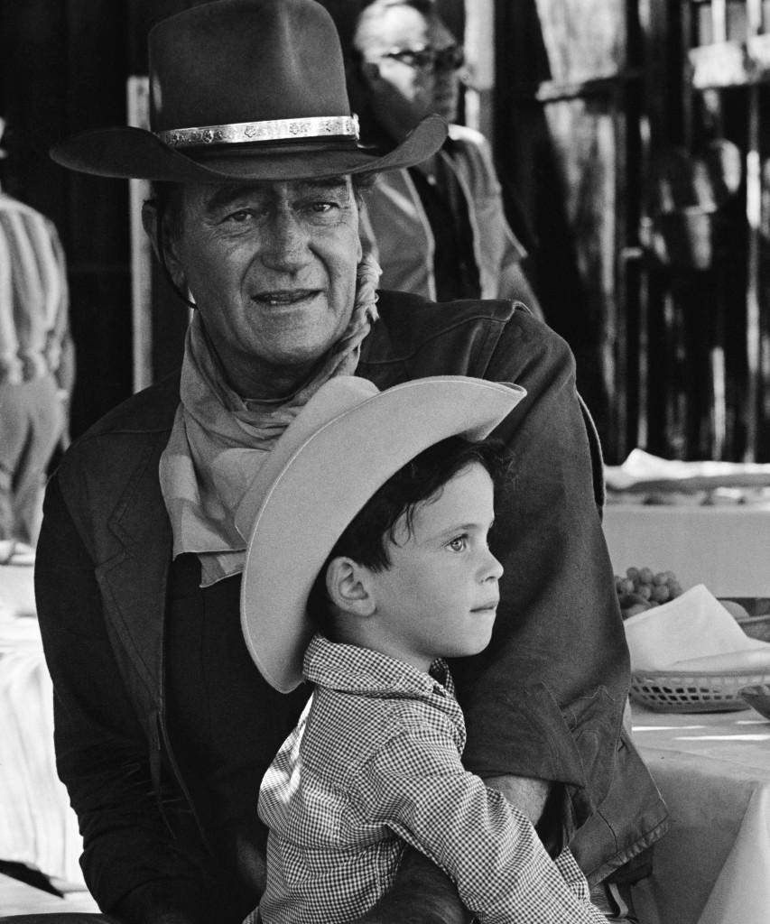 John Wayne and son Ethan Wayne — Photo courtesy Duke Bourbon ©